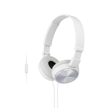 Sony MDR-ZX310AP sluchátka 30mm s mostem, White