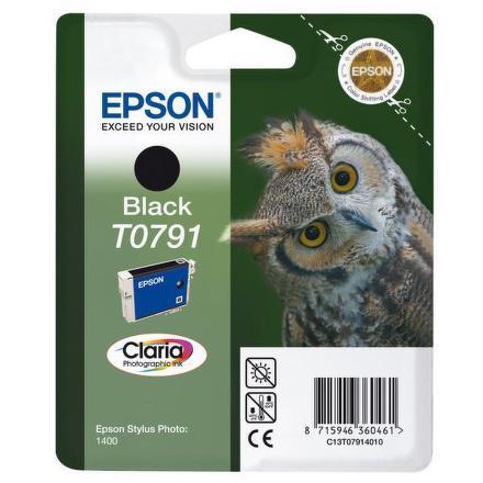 Inkoustová náplň Epson T0791, 11ml originální - černá