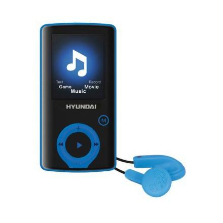 Přehrávač MP3/MP4 Hyundai MPC 883 FM, 4GB, černý/modrý