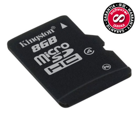 Paměťová karta Kingston MicroSDHC 8GB Class4