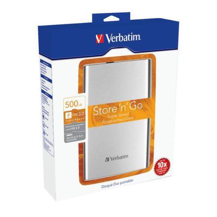 """HDD ext. 2,5"""""""" Verbatim Store ´n´ Go 500GB - stříbrný"""