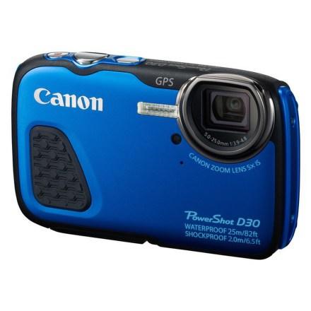 Fotoaparát Canon PowerShot D30 HS podvodní, modrý