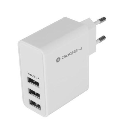 Nabíječka do sítě GoGEN ACH 300, 3x USB - bílá