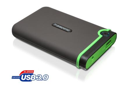 """HDD ext. 2,5"""""""" Transcend StoreJet 25M3 1TB - šedý/zelený"""