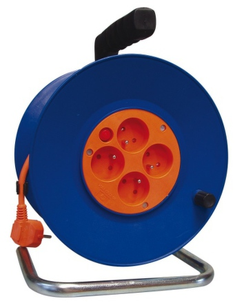 Kabel prodlužovací na bubnu EMOS P19450 50m, 4 zásuvky