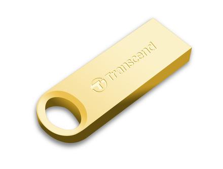 Flash USB Transcend JetFlash 520G 16GB USB 2.0 - zlatý/kovový