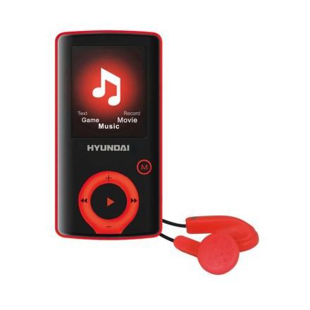 Přehrávač MP3/MP4 Hyundai MPC 883 FM, 8GB, černý/červený