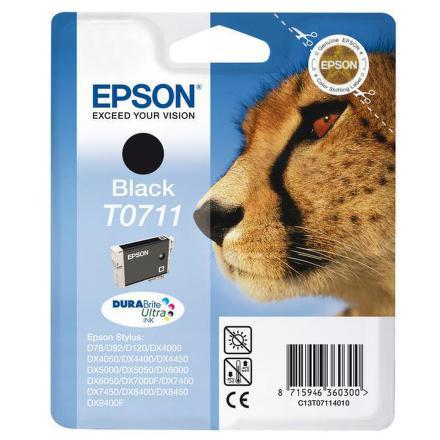 Inkoustová náplň Epson T0711, 245 stran originální - černá