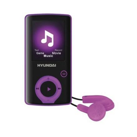Přehrávač MP3/MP4 Hyundai MPC 883 FM, 16GB, černý/fialový