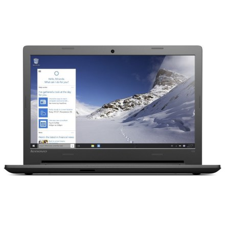 "Ntb Lenovo IdeaPad 100-15 Pentium 3825U, 4GB, 500GB, 15.6"""", HD, bez mechaniky, nVidia 920M, 2GB, BT, CAM, W10 - černý"