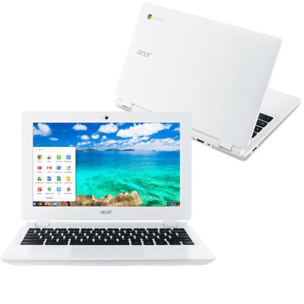 "Ntb Acer Chromebook 11 (CB3-131-C4SZ) Celeron N2840, 2GB, 32GB, 11.6"""", HD, bez mechaniky, Intel HD, BT, CAM, Chrome OS - bílý"