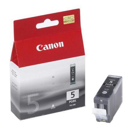 Inkoustová náplň Canon PGI-5Bk, 360 stran originální - černá