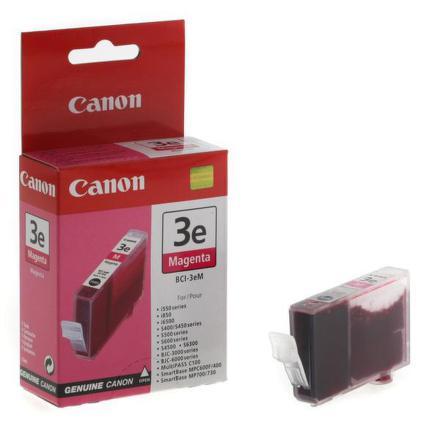 Inkoustová náplň Canon BCI-3eM, 280 stran originální - červená