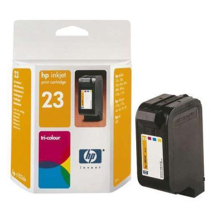 Inkoustová náplň HP No. 23, 30ml, 640 stran originální - červená/modrá/žlutá
