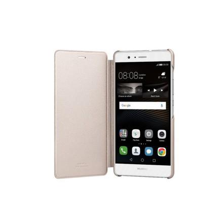 Pouzdro na mobil flipové Huawei P9 Lite Flip Cover - zlaté