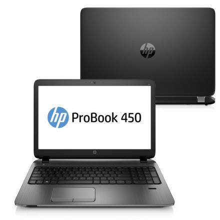 "Ntb HP ProBook 450 G2 Celeron 3205U, 4GB, 1TB, 15.6"""", DVD±R/RW, Intel HD, BT, FPR, CAM, W10 - černý"