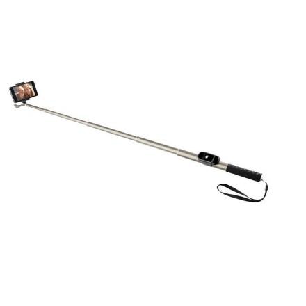 Selfie tyč GoGEN 4 teleskopická, bluetooth, titanová