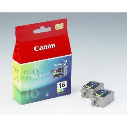 Inkoustová náplň Canon BCI-16C, 100 stran originální - červená/modrá/žlutá