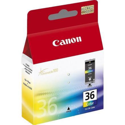 Inkoustová náplň Canon CLI-36C originální - červená/modrá/žlutá