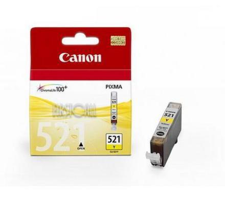 Inkoustová náplň Canon CLI-521Y, 530 stran originální - žlutá