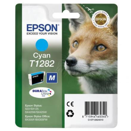 Inkoustová náplň Epson T1282, 3,5ml originální - modrá