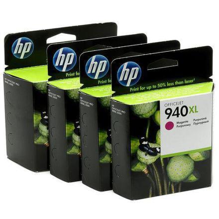 Inkoustová náplň HP No. 940XL, 38ml originální - černá/červená/modrá/žlutá