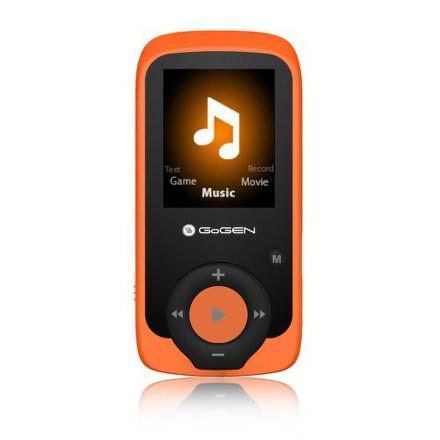 MP3/MP4 přehrávač GoGEN MAXI MP3, 4GB, oranžový