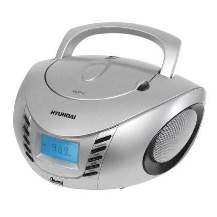 Radiopřijímač Hyundai TRC 182 ADRU3SB, CD/MP3/USB, stříbrný/černý