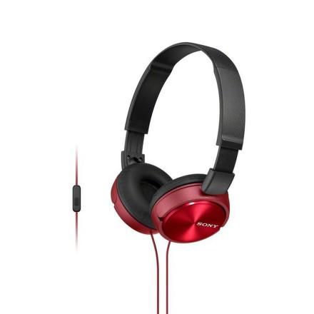Sony MDR-ZX310AP sluchátka 30mm s mostem, Red