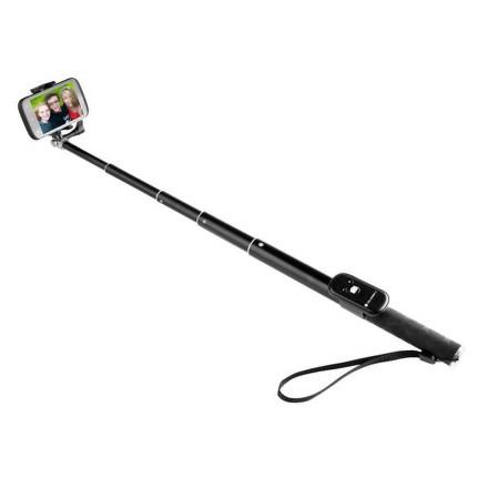 Selfie tyč GoGEN 4 teleskopická, bluetooth, černá