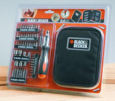 Sada bitů Black&Decker A7104 56 dílná s račnou