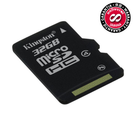 Paměťová karta Kingston MicroSDHC 32GB Class4