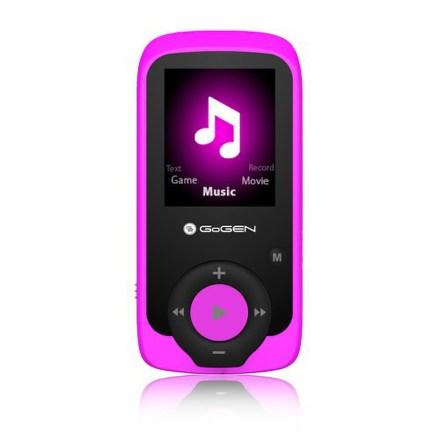 MP3/MP4 přehrávač GoGEN MAXI MP3, 4GB, růžový