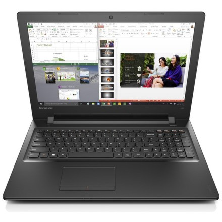 "Ntb Lenovo IdeaPad 300-15 Pentium N3700, 4GB, 8+500GB, 15.6"""", HD, bez mechaniky, Intel HD, BT, CAM, W10 - černý"