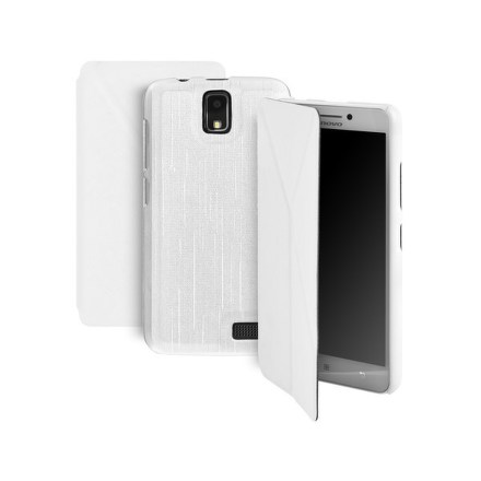 Pouzdro na mobil flipové GoGEN pro Lenovo A328 - bílé