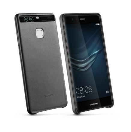 Kryt na mobil Huawei P9 kožené - černý