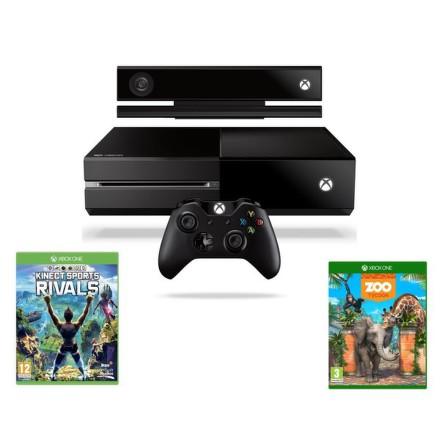 Herní konzole Microsoft Xbox One 500 GB + Kinect + Sports Rivals + Zoo Tycoon - černá
