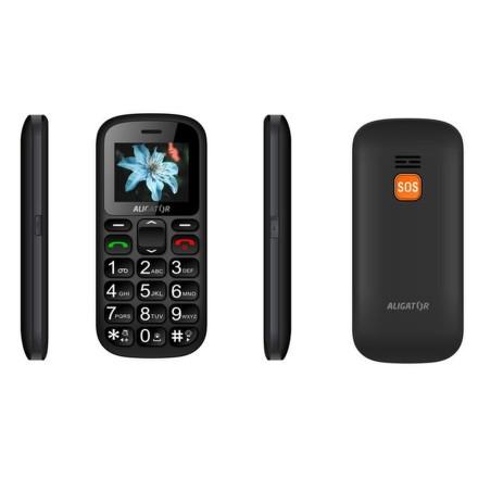 Mobilní telefon Aligator A321 Senior Dual SIM - černý/šedý