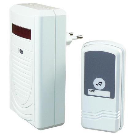 Zvonek bezdrátový EMOS 98080S, do zásuvky, 60m - bílý