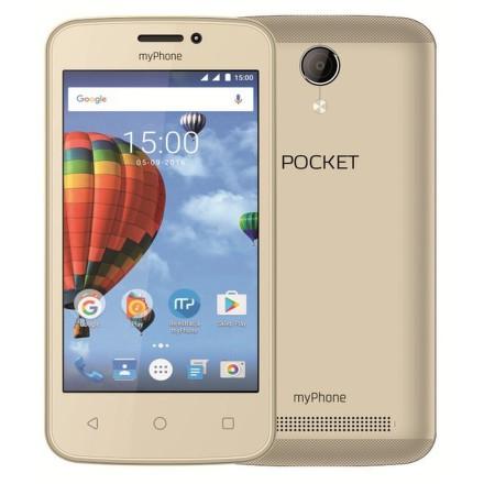 Mobilní telefon myPhone POCKET - zlatý