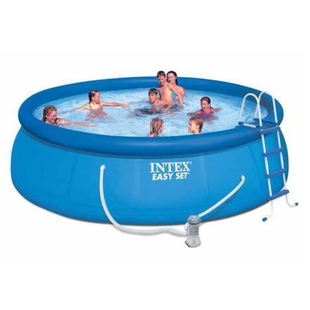 Bazén Intex Easy Set 4,57x1,22 m, kartušová filtrace 3,8 m3/h