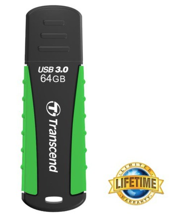 Flash USB Transcend JetFlash 810 64GB USB 3.0 - zelený