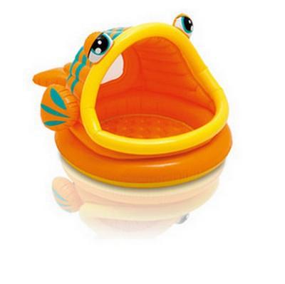 Bazén Intex Lazy Fish Shade 124 x 109 x 71 cm - dětský