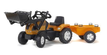 Šlapací traktor FALK Renault Ares 886RX s přední lžící a valníkem - plast
