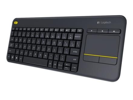 Klávesnice Logitech Wireless Keyboard K400 Plus, CZ/SK - černá
