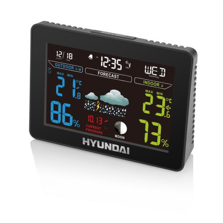 Meteostanice Hyundai WS 8230, barevný displej, s adaptérem