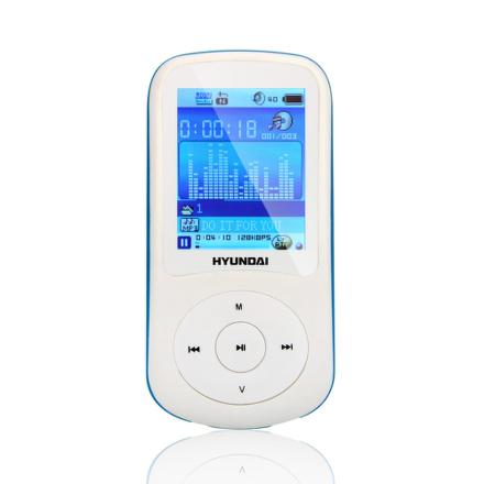 MP3 přehrávač Hyundai MPC 401 FM, 4GB, bílý/ modrý