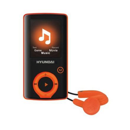 Přehrávač MP3/MP4 Hyundai MPC 883 FM, 4GB, černý/oranžový