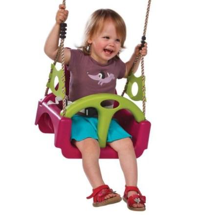 Houpačka CUBS Baby 3v1 Trix - růžová