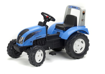 Šlapací traktor FALK Landini Power Mondial 115 - modrý/plast